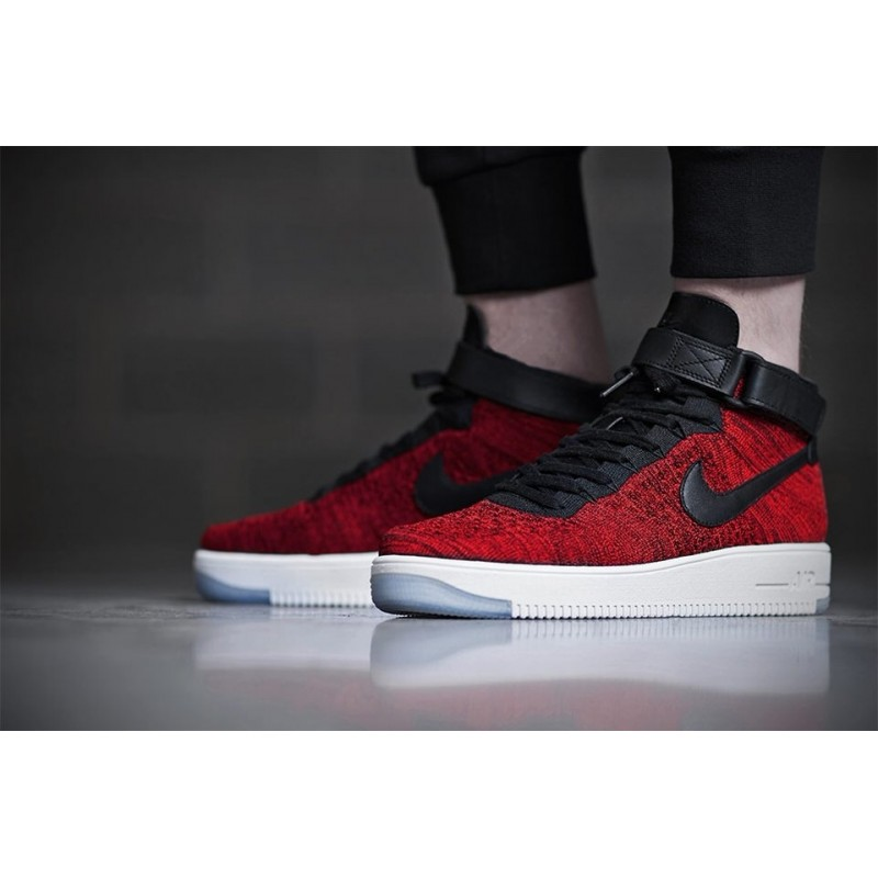 Nike Air Force 1 Ultra Flyknit Red мужские кроссовки