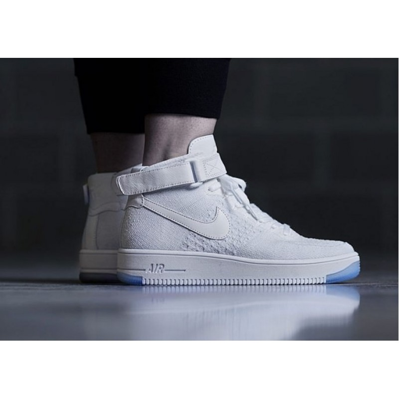 Nike Air Force 1 Ultra Flyknit white мужские кроссовки