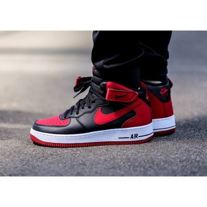 Nike Air Force Black Red мужские кроссовки