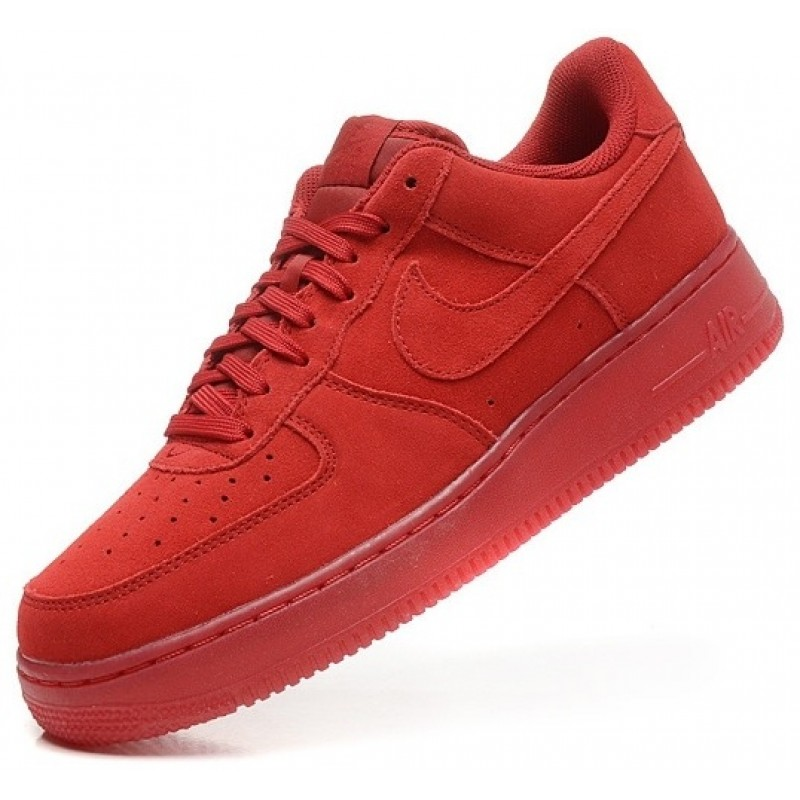 Nike Air Force Low All Red мужские кроссовки