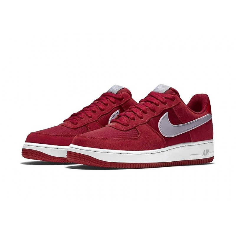 Nike Air Force Red Suede мужские кроссовки