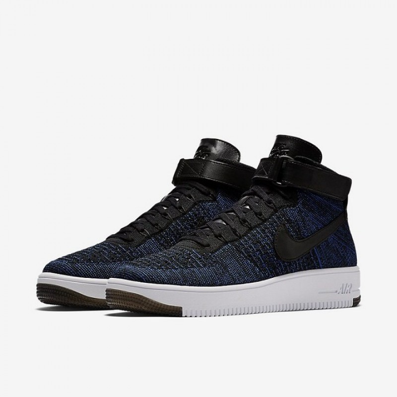 "Nike Air Force Ultra Flyknit High ""Game Royal"" мужские кроссовки"