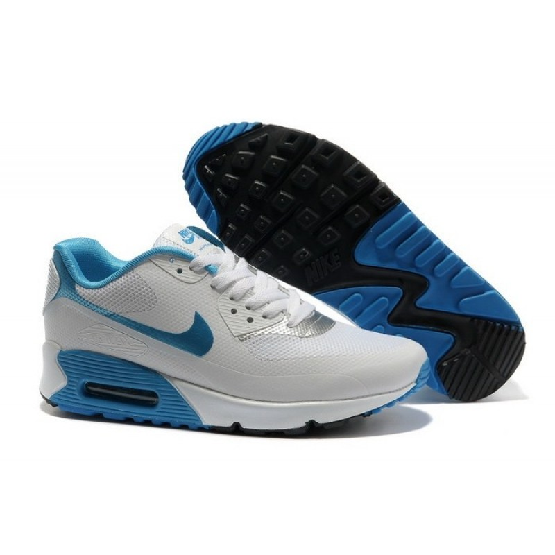 Nike Air Max 90 Hyperfuse White Blue мужские кроссовки