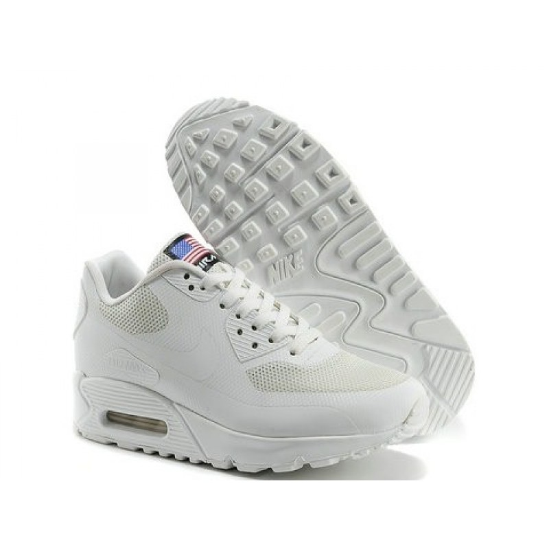 Nike Air Max 90 Hyperfuse USA White мужские кроссовки