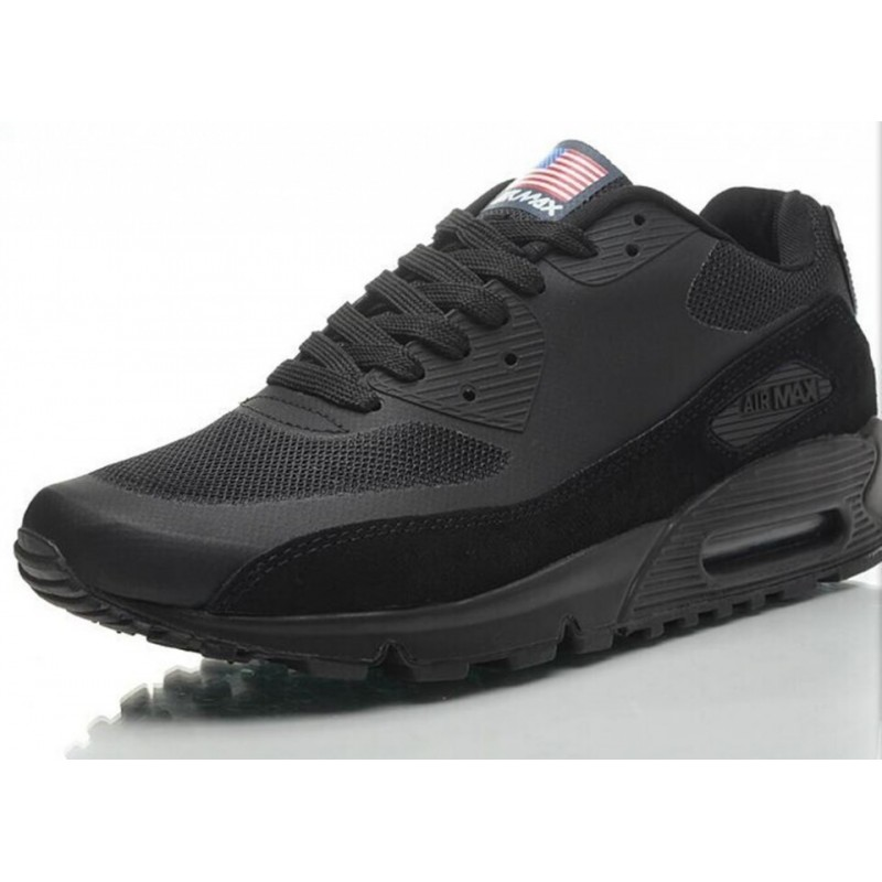 Nike Air Max 90 Hyperfuse USA Black мужские кроссовки