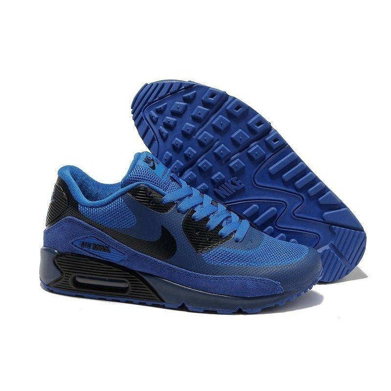 Nike Air Max 90 Hyperfuse Black Blue мужские кроссовки