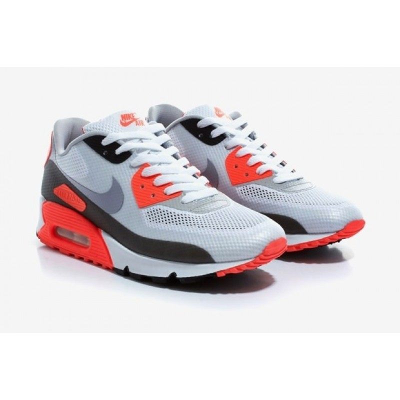 Nike Air Max 90 Hyperfuse Black/Red/White мужские кроссовки
