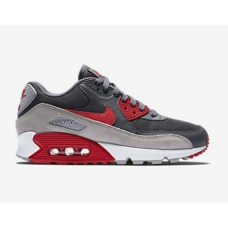 Nike Air Max 90 Grey Red мужские кроссовки