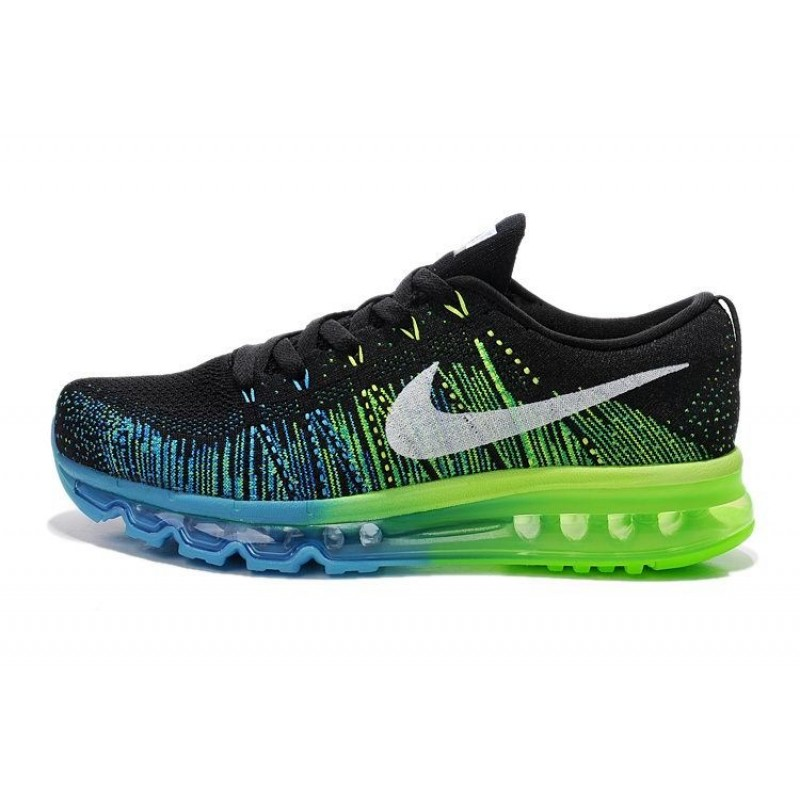 Nike Air Max Flyknit Black Blue Green мужские кроссовки
