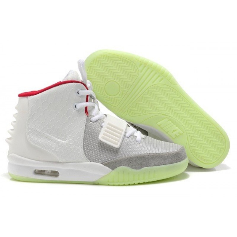 Nike Air Yeezy 2 White Red мужские кроссовки