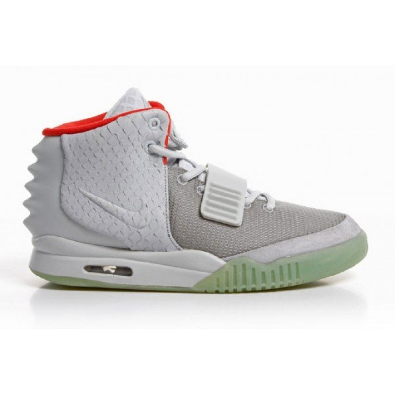 Nike Air Yeezy 2 Grey Pure Platinum мужские кроссовки