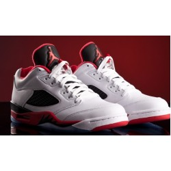 Air Jordan V Retro Low White Red