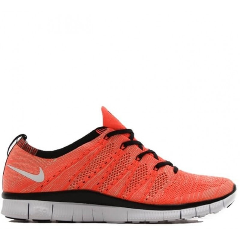 "Nike Free Flyknit NSW ""Hot Lava/White"" мужские кроссовки"