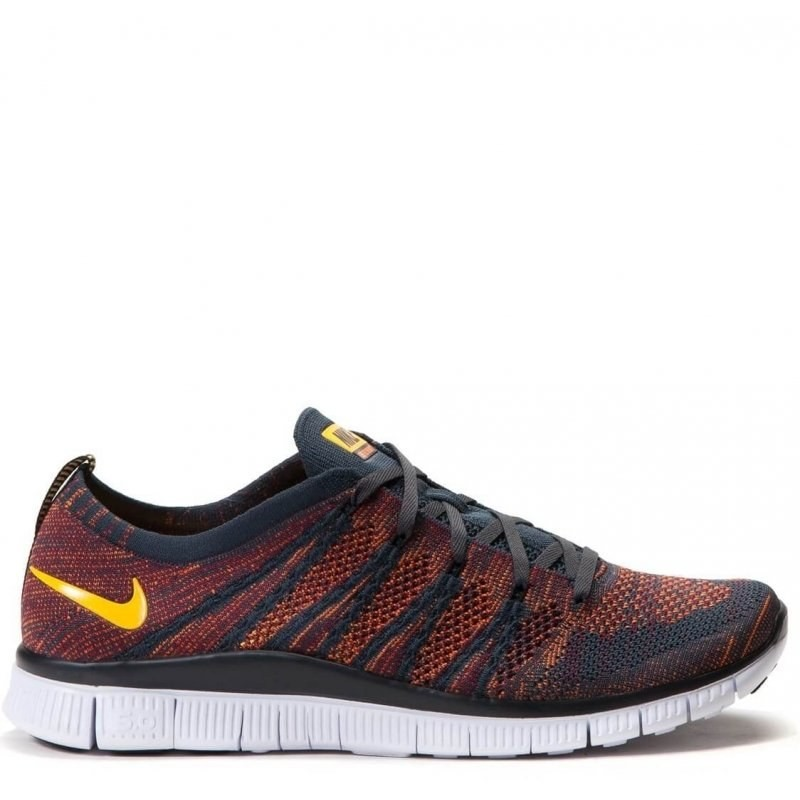 "Nike Free Flyknit NSW ""Anthracite/Laser Orange"" мужские кроссовки"