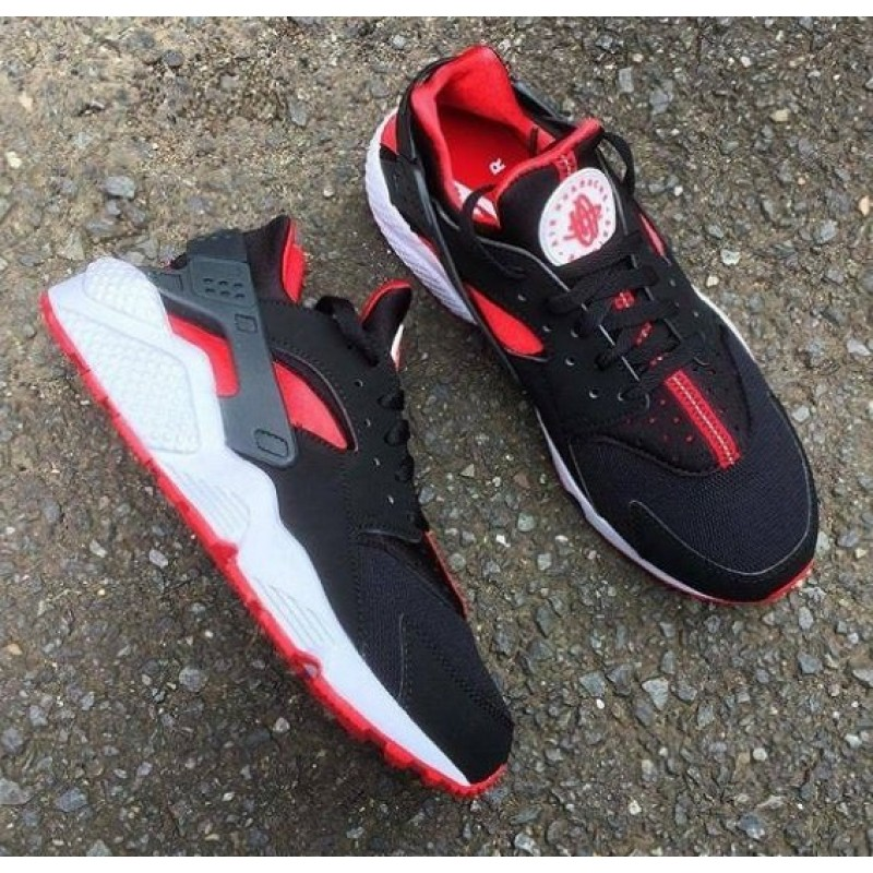 Nike Air Huarache Black And Red мужские кроссовки