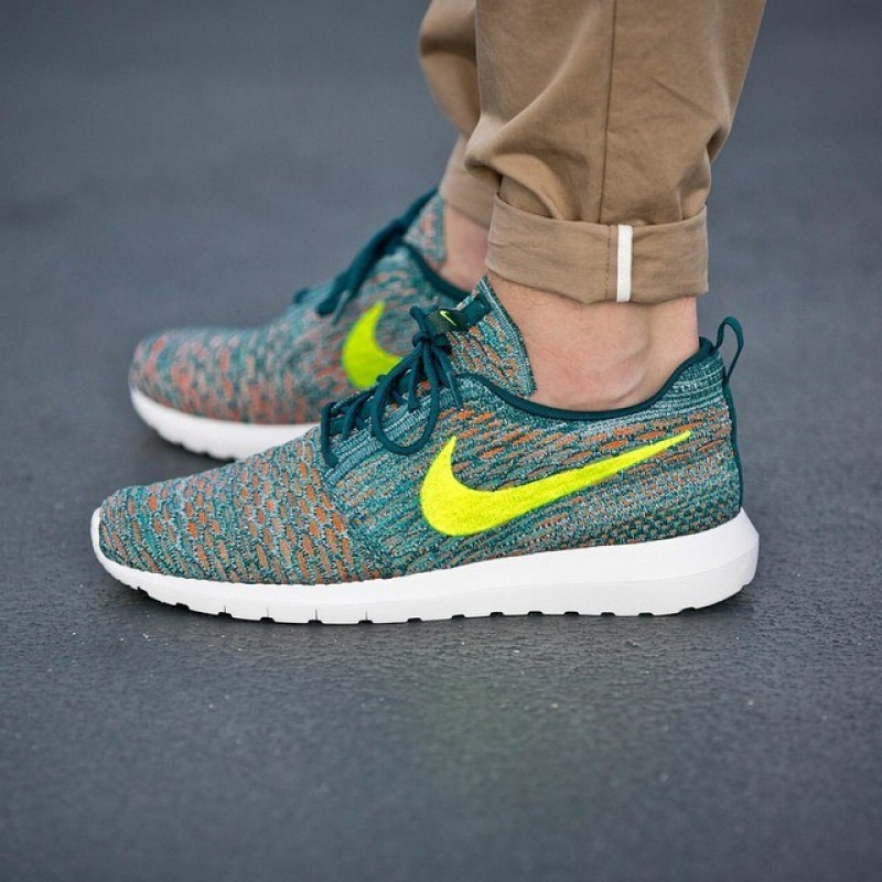 Nike Roshe Run Flyknit Mineral Teal мужские кроссовки