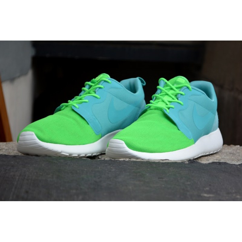 Nike Roshe Run Hyperfuse QS Green мужские кроссовки