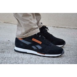 "Reebok CL Leather Utility ""Black/Grey"""