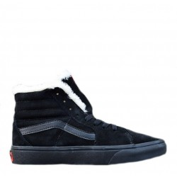 "Vans Old School Suede ""Black"" с мехом"