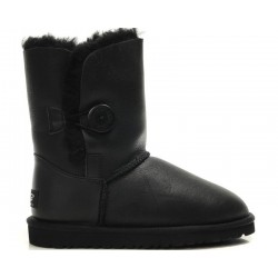 "UGG Baby Bailey Button Leather ""Black"""